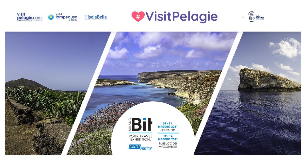 Le Isole Pelagie alla Bit Digital Edition 2021 con lo stand allestito da Hub Turistico Lampedusa